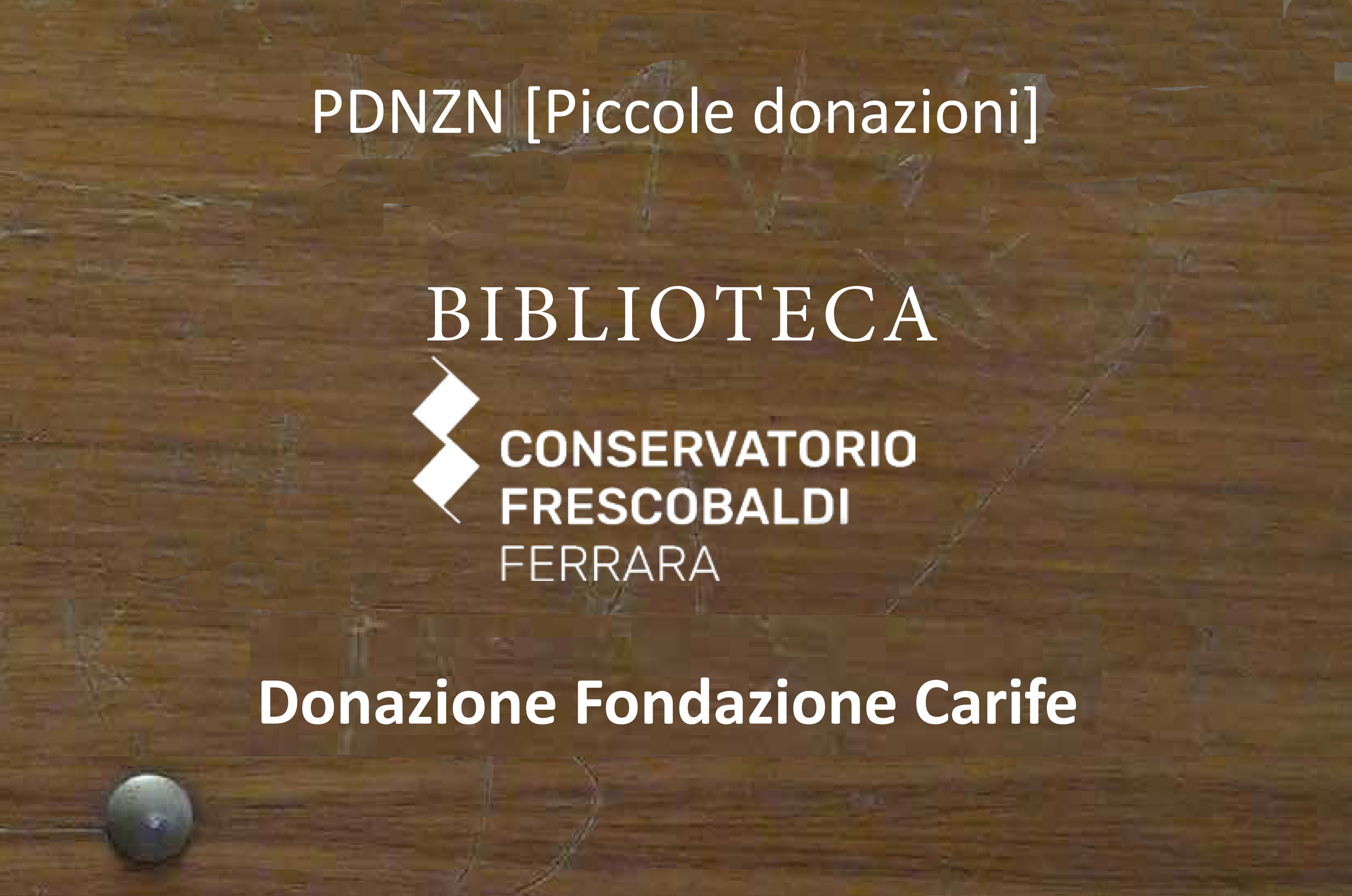 Donazione Carife